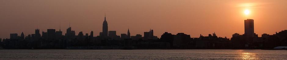 Sonnenaufgang Skyline NYC