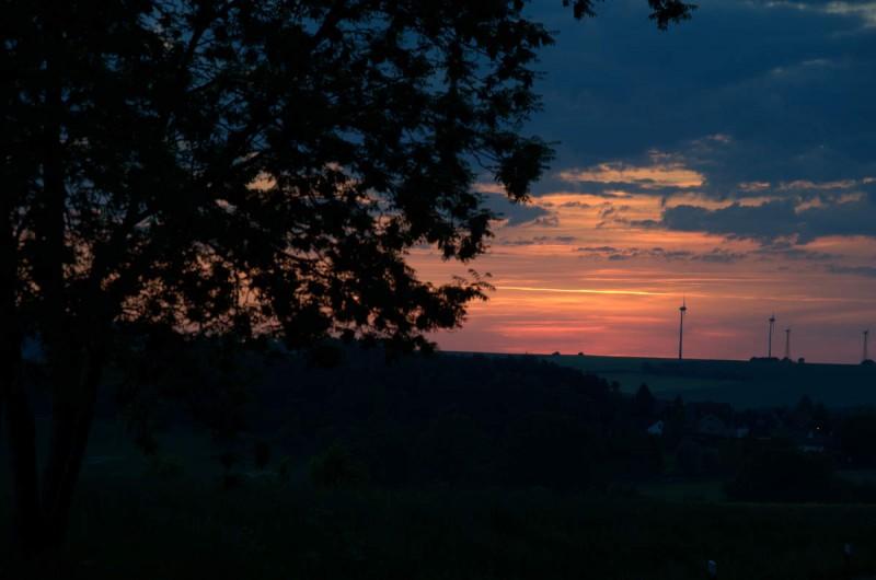 Sonnenuntergang in Höingen