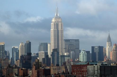 Blick von New Jersey auf das Empire State Building